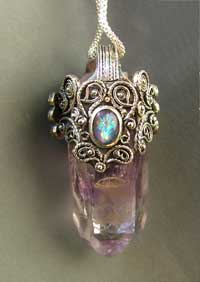 Valkyrie crystal pendant